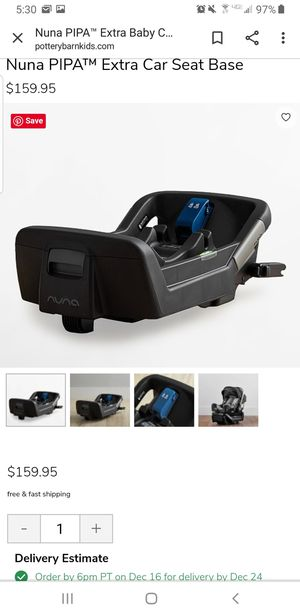 Extra Nuna car seat adapter only for Sale in Milwaukie, OR
