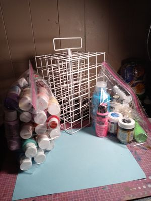 Acrylic paint and holder for Sale in Gibsonton, FL