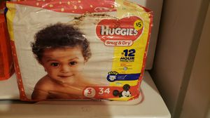 HUGGIES snug & dry diapers for Sale in Nashua, NH