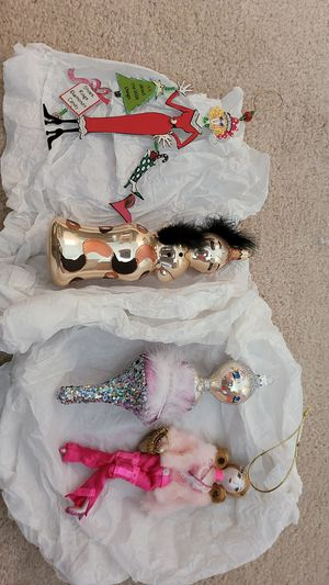 Lot of 4 Fashionable Christmas Ornaments...Chic! for Sale in Dover, FL