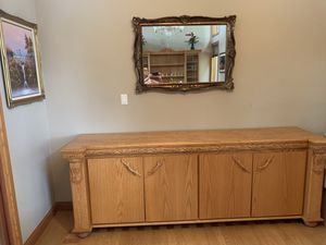 Custom Oak Dining Room and Entertainment Wall-Unit with T.V. for Sale in Fort Lauderdale, FL