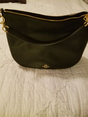 Coach black & gold purse - barely used for Sale in Nolensville, TN