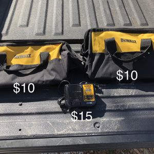 Dewalt 20v Max Charger And Bags for Sale in Tampa, FL