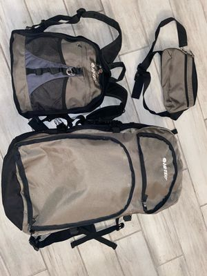 HI-TEC 3in1 camping/hiking backpack , great condition and very comfortable, for Sale in Houston, TX
