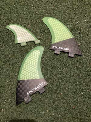 Fcs mark richards twin fins with trailer tin surfboard surf thruster for Sale in Portland, OR