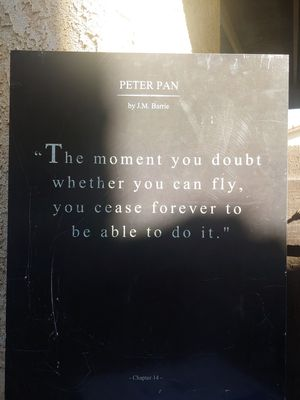 Peter pan quote poster board for Sale in Yuma, AZ