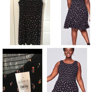 Brand new Loft size 16 Plus Floral Smocked Flare Dress (pick up only) for Sale in Alexandria, VA