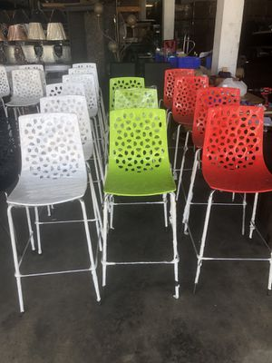 Bright colored bar stools for Sale in Miami, FL
