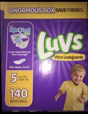 Luvs diapers/pañales size 5 for Sale in Downey, CA