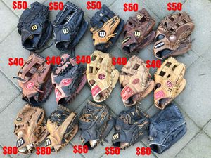 Baseball gloves mizuno Rawlings easton Nike Wilson glove bats equipment for Sale in Culver City, CA