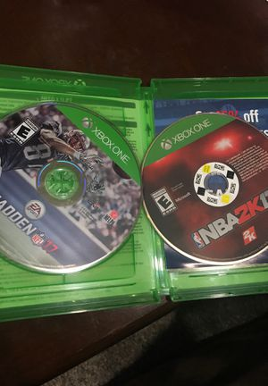 Xbox One - Madden 17 & NBA 17 for Sale in Gaithersburg, MD
