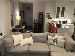 New Pottery Barn air (down filled) sectional with chaise couch! for Sale in Boston, MA