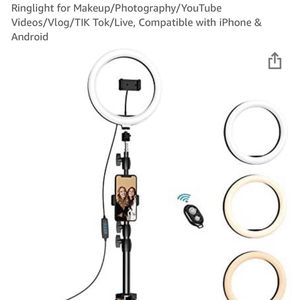 Selfie Ring Light with Tripod For Tiktok Vlogg And Selfi And More for Sale in Renton, WA