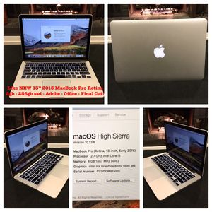 """Like NEW 2015 13"""" MacBook Pro 8gb Ram 256gb SSD, Logic , Final Cut, Adobe, Office! for Sale in Nashville, TN"""