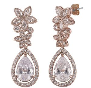 Simulated Diamond and Rose Gold Earrings for Sale in Brooklyn, NY