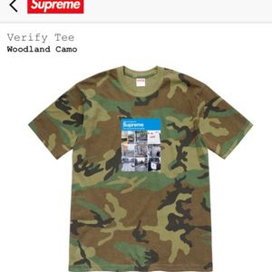 SUPREME Photo Verify Captcha Tee T Shirt Woodland Camo Size Men's XL X-Large Extra Large FW20 NEW SEALED RECEIPT $100 for Sale in Medford, NJ