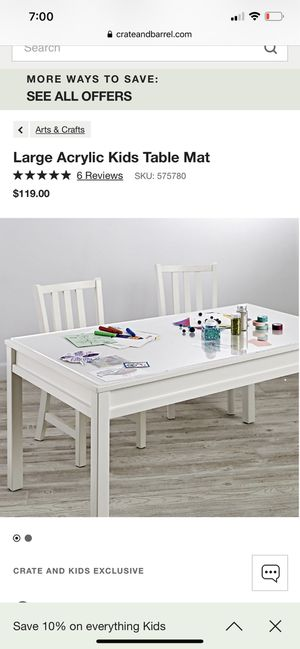 Kids table and chairs (with acrylic table mat) for Sale in Irvine, CA