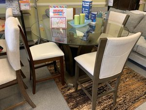 *DELIVERY BY 21 DAYS* AWESOME ROUND GLASS DINING SET!!! EVERYTHING INCLUDED!!! EASY FINANCE!!!! for Sale in Raleigh, NC
