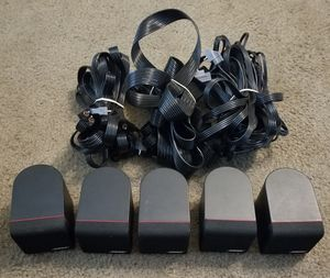 5 Bose Single Cube Redline Home Theater Speakers for Sale in Leander, TX