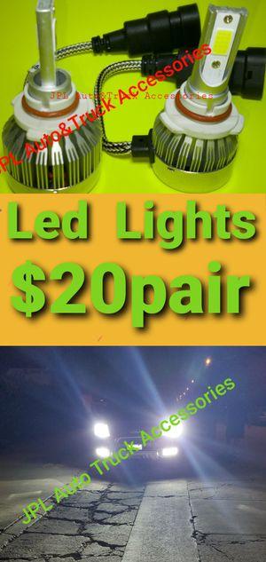 LED LIGHT LED HEADLIGHT FOG LIGHTS DAYTIME RUNNING LIGHTS HID LIGHTS HID HEADLIGHTS BULBS $20 PAIR for Sale in Santa Ana, CA