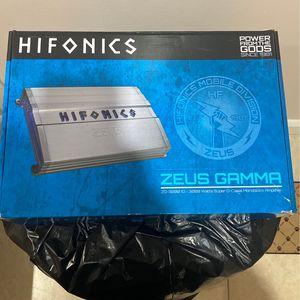 Hifonics Zeus Amp New for Sale in Hialeah, FL