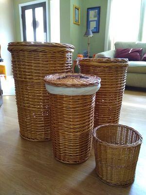 7 pc Stackable Wicker Basket Set for Sale in Mesa, AZ