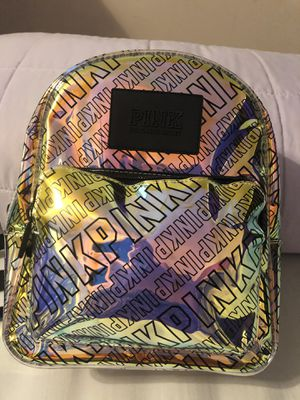Pink clear gold/black medium size backpack brand new for Sale in Spring Valley, CA