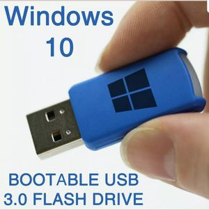 Windows 10 PRO (&HOME) on USB - RESTORE/REINSTALL/RECOVERY for Sale in Fontana, CA