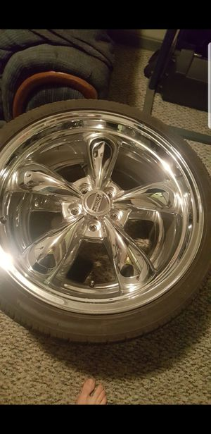 Chrome mustang wheels for Sale in Sykesville, MD
