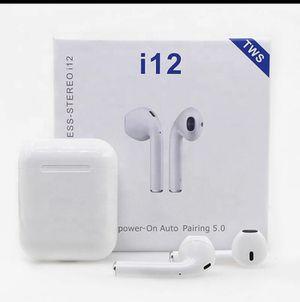 I12 TWS Wireless Headset Headphones Earbuds for Sale in Las Vegas, NV