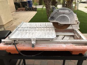 Ridgid wet table saw... works great for Sale in Chula Vista, CA