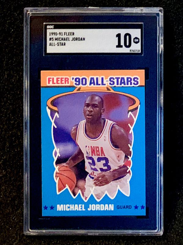 1990-91 Fleer Michael Jordan All Star SGC 10 Gem Mint