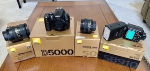 Nikon camera, lenses and flash for Sale in Carrollton, TX