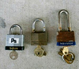 (3) Locks with Keys for Sale in New Bern, NC