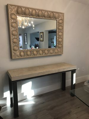 Console Table and Mirror for Sale in Miami, FL