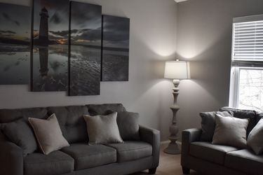 MOVING, REDUCED TO SELL!! Charcoal Gray Couch and Love seat set B for Sale in Marblehead,  MA