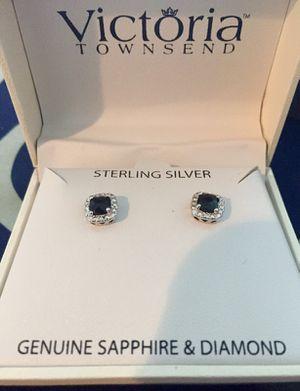 Sapphire/sterling silver earrings for Sale in Miami, FL