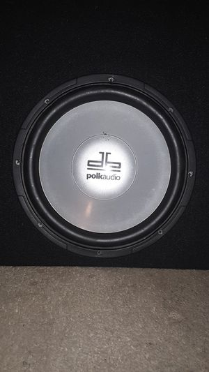 Polk audio 10 inch sub with a groundshaker box included for Sale in Phoenix, AZ