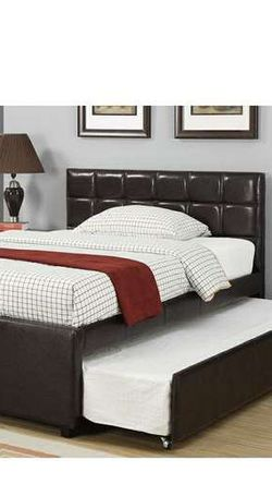 CLOSEOUTS LIQUIDATION SALE BRAND NEW TWIN SIZE BED FRAME AVAILABLE IN FULL ADD MATTRESS ALL NEW FURNITURE PDX9215T 0E for Sale in Ontario, CA