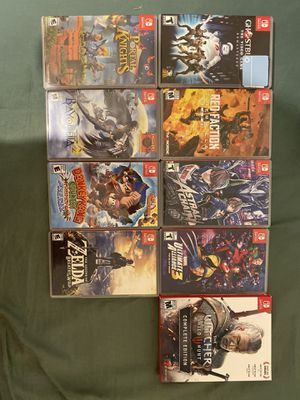 Nintendo switch game lot / TRADE for Sale in Norco, CA
