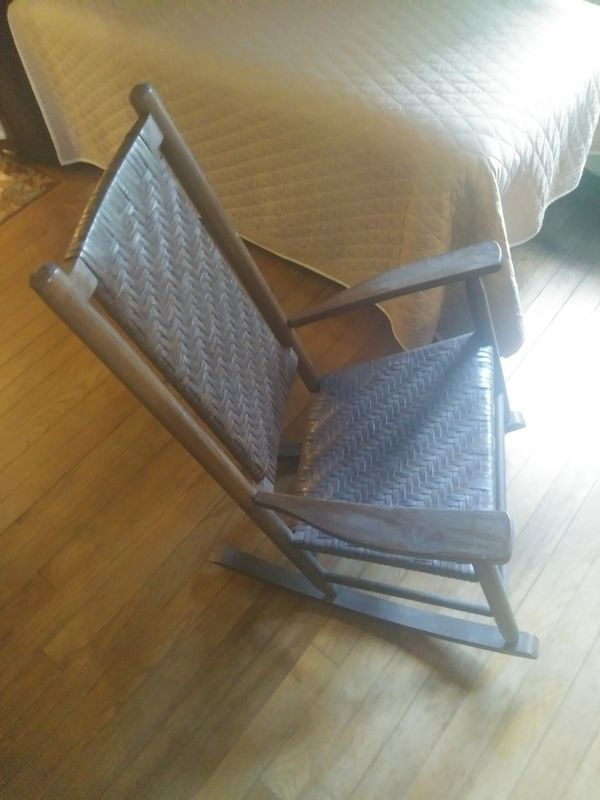 Antique Hand Made In Ohio Rocking Chair