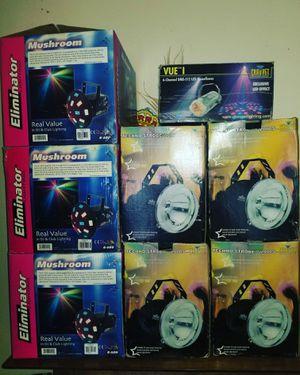 Mushroom eliminator 3, strobe chauvet 4 moonflower 1, maquinas de humo 3 se vende todo junto! for Sale in Los Angeles, CA