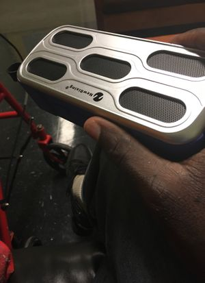 Blue and grey Bluetooth speaker for Sale in Boston, MA
