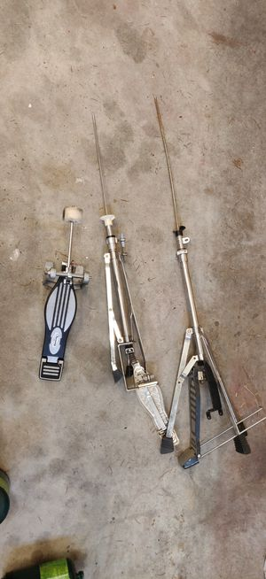 Various drum set pieces high hat kick drum pedal for Sale in Newberg, OR