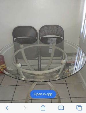 Table 4 person Glass table. No chairs In San Jose. Ca 95111 for Sale in San Jose, CA