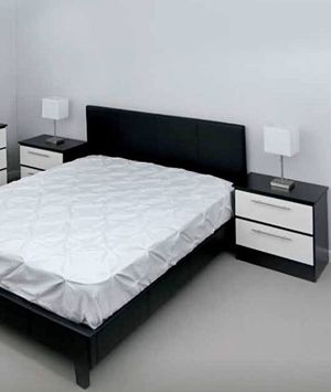 New queen bed frame and nightstands mattress is not included for Sale in Orlando, FL