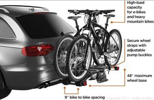 Thule 9032 EasyFold Carrier + Thule Carbon Frame Adapter (New) for Sale in Heber-Overgaard, AZ