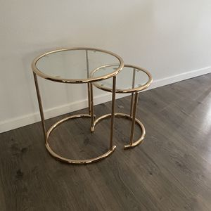 Gold Coffee Table End Table for Sale in Black Diamond, WA