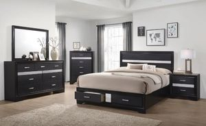 Coaster Furniture Miranda Storage Bed, Queen Size Black for Sale in Fountain Valley, CA