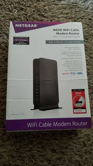 Netgear N600 modem router for Sale in Cupertino, CA